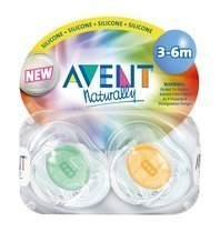 (Translucent Infant Pacifiers 3-6m (colors may vary))
