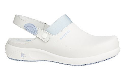 Oxypas Move Doria Slip-resistant, Antistatic Leather Nursing Clogs with Coolmax Lining, 3.5 UK (36 EU)
