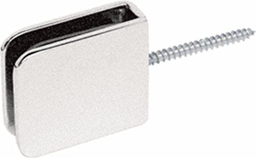 C.R. LAURENCE GCB186BN CRL Brushed Nickel Traditional Movable Wall Mounted Transom Glass Clamp