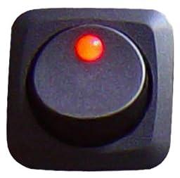 Keep It Clean SW16R Red 25 Amp/12V Square Framed LED Rocker Switch