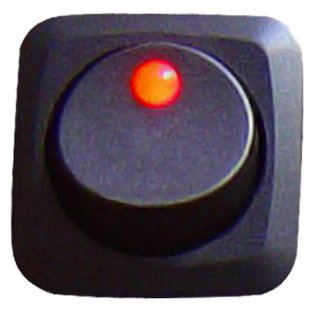 Keep It Clean SW16R Red 25 Amp//12V Square Framed LED Rocker Switch