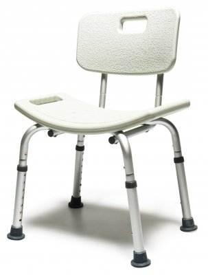 Lumex 7921RB-1 Platinum Collection Bath Seat with Backrest, Steel Blue, Retail Packaging