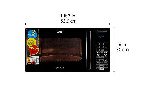 IFB 30 L Convection Microwave Oven (30BRC2, Black, With Starter Kit) Discounts Junction