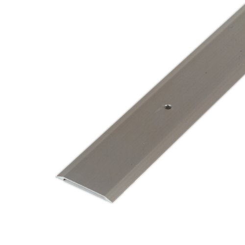 "M-D Building Products 49010 M-D Premium Flat Saddle Threshold, 36 in L X 1-3/4 in W X 1/8 in H, Aluminum, x 1-3/4"" W x, Satin Nickel"