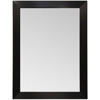this item wood frame mirror modern elegant wall mounted mirror rectangle black finish 3 inch wide flat frame 40x30