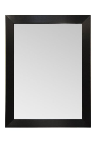 Espresso Finish Mirror (Wood Frame Mirror Modern Elegant Wall Mounted Mirror, Rectangle, Espresso - Black Finish, 3 inch wide Flat Frame (40x30))