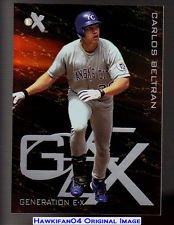 3 Carlos Beltran Insert Baseball Cards Lot 2006 Topps Own the Game #Otg9 2005 Topps Bazooka Gold #150 1999 Fleer Ex Generation Ex #Ex-3 Baseball Cards