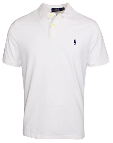 (Polo Ralph Lauren- Classic Fit Mesh Polo White Size Small)