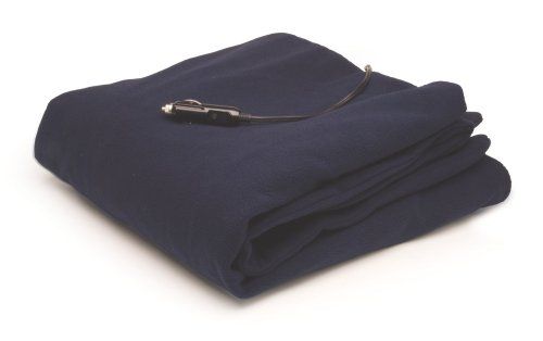 Roadpro 12-Volt  Polar Fleece Heated Travel Blanket, ( 58 x 42.5 Inch ()