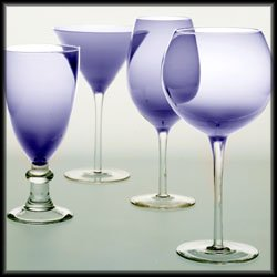 Glass Stemware Plum - Glass Stemware Plum Martini Glasses (Set of 4)