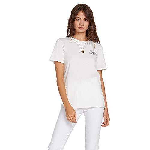 Volcom Star - Volcom Junior's Women's Lock It Up Short Sleeve Tee, Star White, Medium
