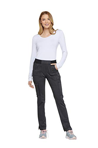 - Women's Advance Two-Tone Twist Mid Rise Tapered Leg Rib Knit Waist Scrub Pants