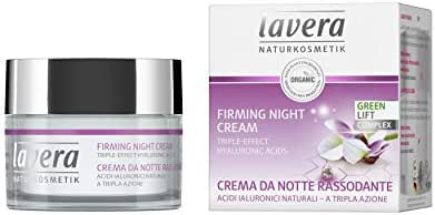 lavera Firming Night Cream: Anti-Aging Face Moisturizer with lifting effect - Hyaluronic Acid, Karanja Oil & Organic White Tea support skin regeneration for a softer & firmer skin while you sleep – 1