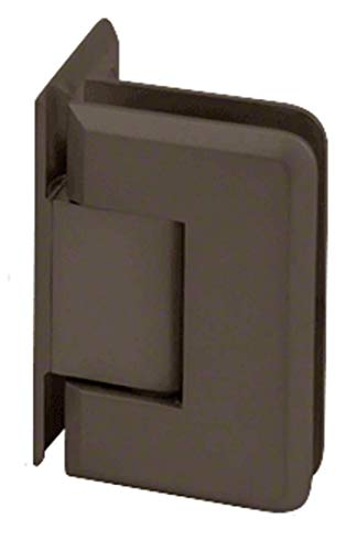 (CRL Oil Rubbed Bronze Pinnacle 044 Series Wall Mount Offset Back Plate Hinge)