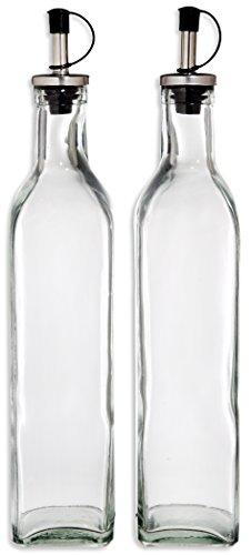 Home Essentials Tablesetter Oil And Vinegar Glass Bottle Set 16 Ounce Each