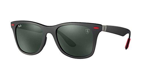 Ray-Ban Men's Plastic Man Square Sunglasses, Matte Black, 52 - Carbon Ban Ray Fiber