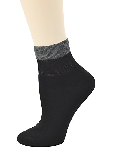Yomandamor Women's Bamboo Diabetic Ankle Socks with Seamless Toe and Non-Binding Top,6 Pairs Size 9-11 by Yomandamor (Image #3)