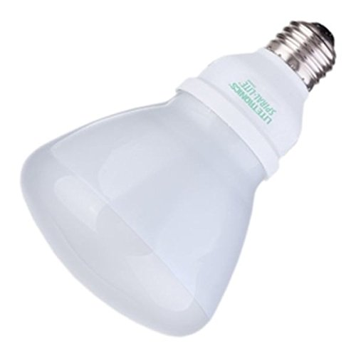 Litetronics 61200 - 15W BR30 MED 120V FR 4100K 10,000H Flood Screw Base Compact Fluorescent Light Bulb