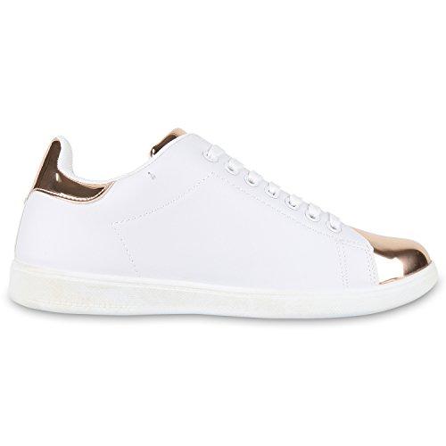 Japado - Zapatillas Mujer, Schwarz Weiss Bianco, 45 EU