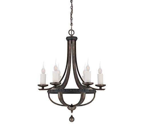 Savoy House 1-9530-6-196, Alsace 6-Light Chandelier, Reclaimed Wood