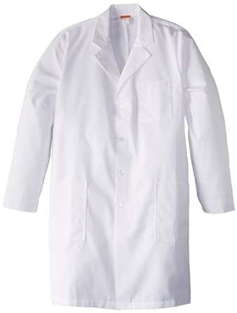 Labcoats by Barco Men's Big-Tall 37 Inch 6 Pocket Lab Loose Back Belt, White, 50