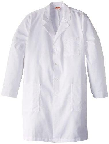 Barco Labcoats Men's Big-Tall 37 Inch 6 Pocket Lab Loose Back Belt, White 50L ()