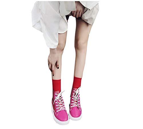 A A Martin Bianche Mred Corte Sneakers YUCH da Maniche Maniche Donna 35 Casual Stivali Trasparenti qwRcgZHx