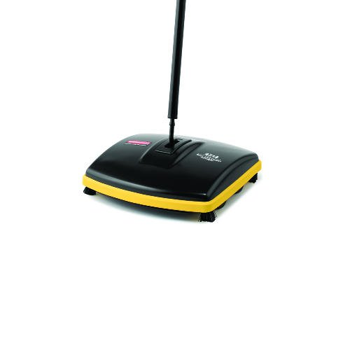 Rubbermaid Commercial Prod. 421288BK Floor/Carpet Sweeper, Flat Fold Handle, 6-1/2 in. W, Black/Gray by Rubbermaid