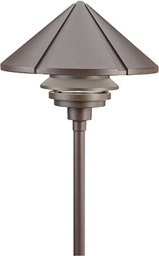 Light Path Mount Stem (Kichler 15211AZT Six Groove Path & Spread 1-Light 120V, Textured Architectural Bronze)