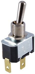 15 Amp NTE Electronics 54-025 Bat Handle Toggle Switch 3-In-1 Combo Terminal 250V Inc. SPDT Circuit On-Off -On Action Brass//Nickel Plate Actuator