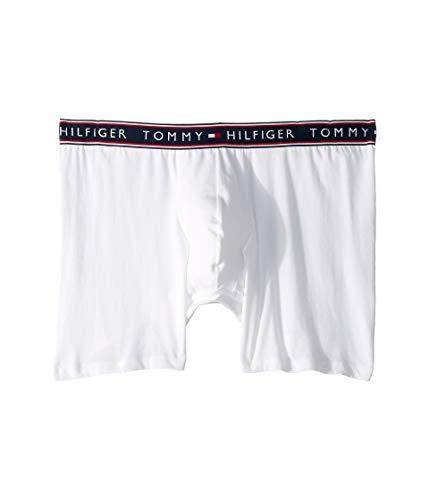 Tommy Hilfiger Men's Underwear Cotton Stretch Boxer Briefs, White, Large (Whites Stretch Briefs)