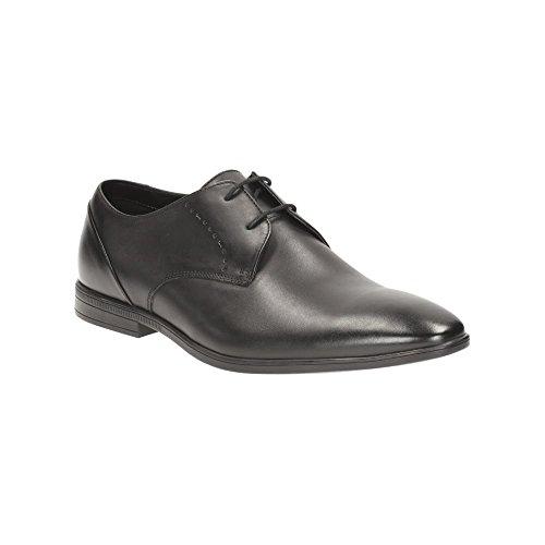 Clarks Bampton, Zapatos de Cordones Derby para Hombre negro