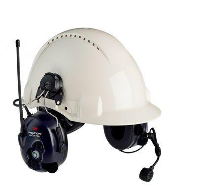3M(TM) Peltor(TM) Lite Com Plus 2-Way Radio Headset, MT7H7P3E4610-NA, With Hard Hat Attachment. Each