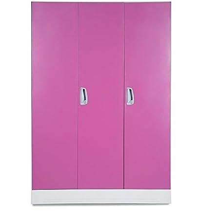 Godrej Interio Slimline 3wl Metal Almirah Finish Color Textured Pink Amazon In Electronics