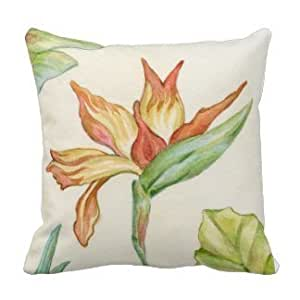 Amazon.com: 1ZMountletstore Bird of Paradise Flower Square decorative Throw Pillow Case Decor ...