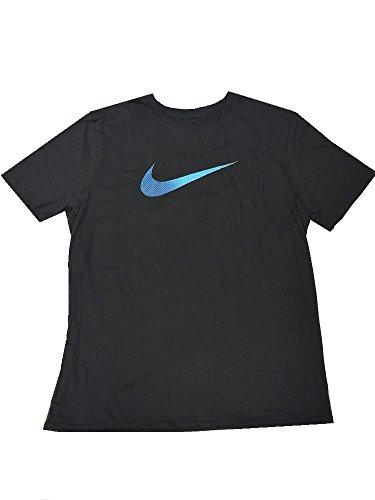 "Nike Men's ""Blue Ombre Swoosh"" T-Shirt Charcoal Heather X-Large"