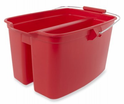 Rubbermaid W 1887094 Double Pail with Handle (Plastic Double Pail Buckets)