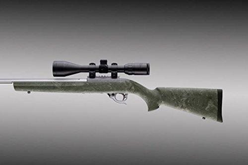 (Hogue Rubber Over Molded Stock for Ruger, 10-22 with .920-Inch, Gillie Green)