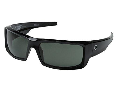 Spy Optic General Sunglasses Gloss Black with Grey Green Lens + Spy - Sunglasses General Spy