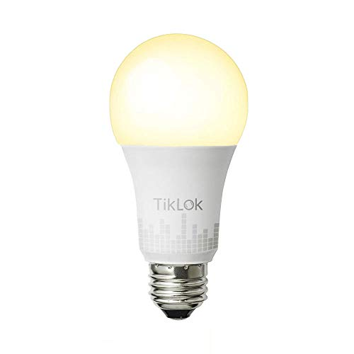TIKLOK Smart Light Bulb, WiFi Smart Light Bulb with 50W Equivalent, Dimmable Warm White, A19 E26 Edison Bulb, Compatible with Alexa and Google Home, No Hub Required
