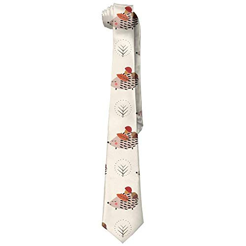 Men's Classic Casual Hedgehog Mushroom Skinny Silk Tie Necktie Fashion Gift Weddings Gentleman Groom Business - Jerry Turquoise Necklace