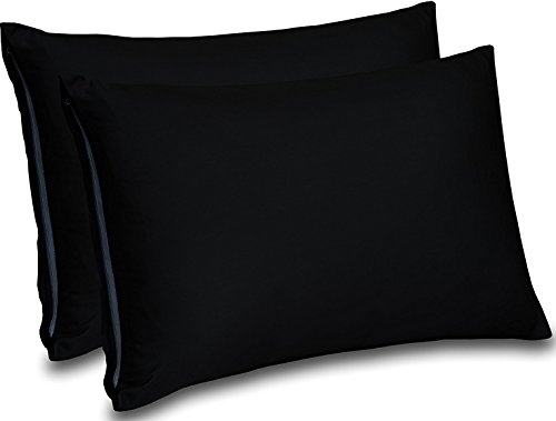 Cotton Sateen Zippered Pillow Cases