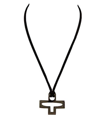 Christian Friendly Halloween Costumes (Stylized Christian Cross Pendant Necklace Black Nickletone 20