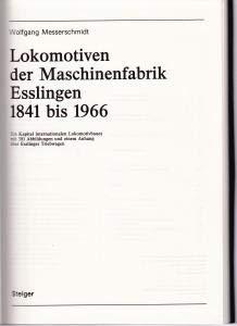 Hardcover Lokomotiven der Maschinenfabrik Esslingen 1841 bis 1966. Ein Kapitel internationalen Lokomotivbaues. [German] Book