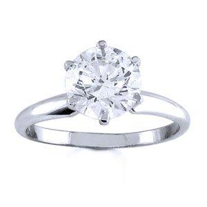 Platinum Round Diamond Solitaire Engagement Ring (2.00 ct)