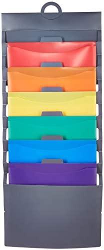 AmazonBasics Hanging 6 Pocket File Folders – Multicolor