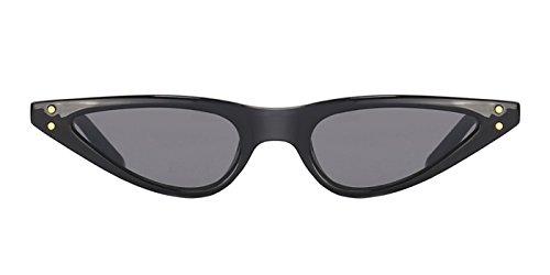 TIJN Small Frame Retro Skinny Narrow Drop Cat Eye Sunglasses For - Eye Skinny Sunglasses Cat