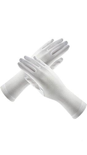 White Long Satin Child Gloves (Children's Gloves (White))