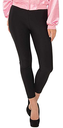 Rubie's Women's Grease, Ladies Black Stretch Leggings, As Shown, Standard