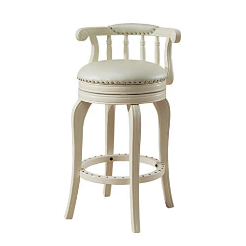 Amazon Com Lxn Retro White Dining Chair Rubber Solid Wood